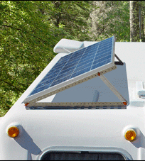 Solar Panel with Adjustable Mount